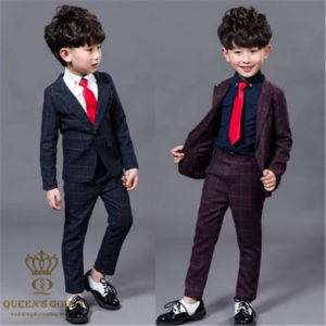 Fashion Slim Wedding Children Boy Striped Suit, Tailored
