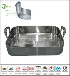 The Best 3 Ply Stainless Steel Bakeware Pan Roast Pan pictures & photos