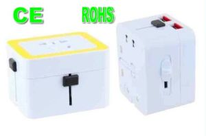 CE Approved Universal Plug Travel Adapter with Dual USB pictures & photos