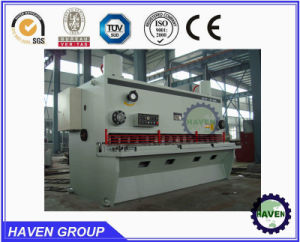 CNC guillotine shearing machine, hydraulic swing beam shear pictures & photos