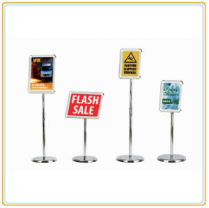 Height Adjustable Menu Advertising Poster Stand pictures & photos