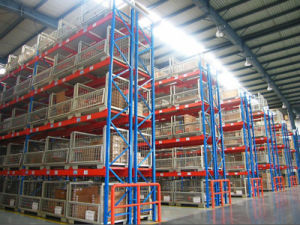China Double Deep Stainless Steel Storage Warehouse Pallet Rack pictures & photos