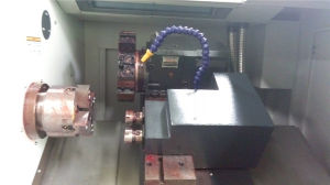 CNC Slant Bed Lathe with Hydraulic Chuck (CXK32/HTC32) pictures & photos