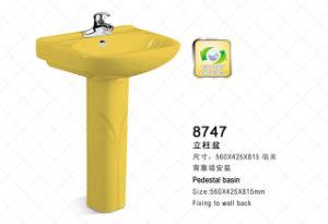 Weidansi Ceramic Wash Sink Pedestal Wash Basin (WDS-P7205) pictures & photos