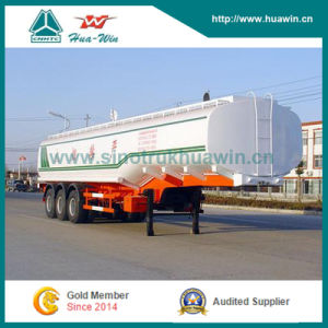 Sinotruk 3-Axle Stainless Fuel Tanker Semi Trailer pictures & photos