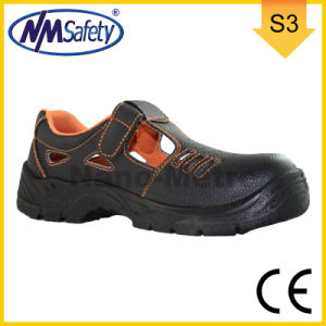 Nmsafety CE Approved Cow Split Leather Safety Work Sandal Shoes pictures & photos