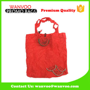 Red 190t Polyester Foldable Bag for Shopping pictures & photos