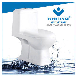Weidansi Ceramic Wash Down S-Trap One Piece Toilet (WDS-T6116)