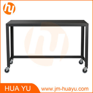 china office / home furniture carbon black metal rolling console
