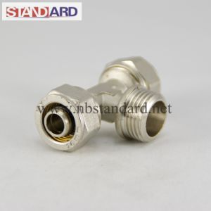 Equal Tee Compression Brass Fitting for Pex Pipe pictures & photos