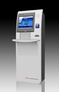 Custom Slim Multimedia Advertising Free Standing Kiosk with Keyboard pictures & photos