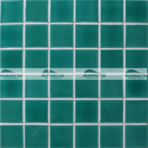 48X48mm Blue Crackle Ceramic Swimming Pool Mosaic Tile (BCK702)