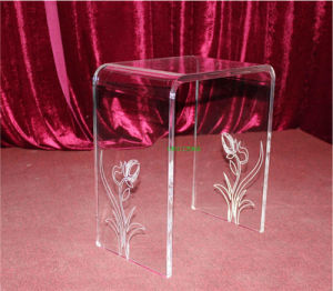 """Deluxe Waterfall Bench Set, Acrylic Furniture, Acrylic Table, Acrylic """" U """" Shape Chair pictures & photos"""