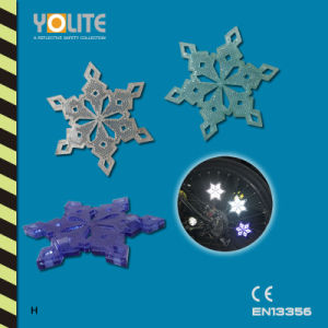 Reflective Snowflake Bicycle Wheel Clip, Bicycle Wheel Spoke Decoration Reflector, Reflective Mount Clip pictures & photos