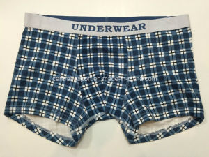 Allover Checks Printed New Style Men′s Boxer Short Underwear pictures & photos