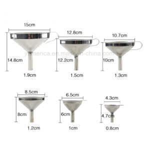 Different Sizes 6PCS Set Stainless Steel Funnel, Metal Funnel pictures & photos