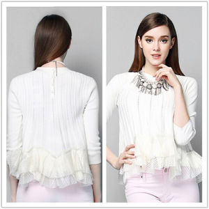 2015 Unique Design High Quality Autumn Knitting Pullover Clothing Women Garment for Wholesale pictures & photos