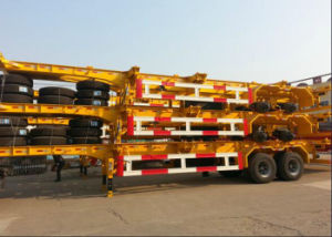 2 Axle/3 Axle 40′ Skeleton Container Semi Trailer China Made pictures & photos