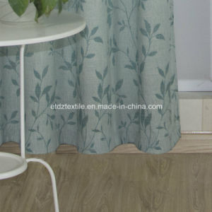 2016 Morden Polyester Piece Dyed Linen Like Curtain Fabric pictures & photos