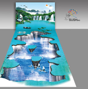 2016 New Waterfall 3D Floor Sticker pictures & photos