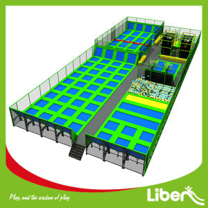 Large Trampoline Places with Blue Trampoline Mat pictures & photos