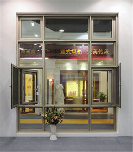 Italy 150 Series Thermal Break Casement Glass Window with Screen Net pictures & photos