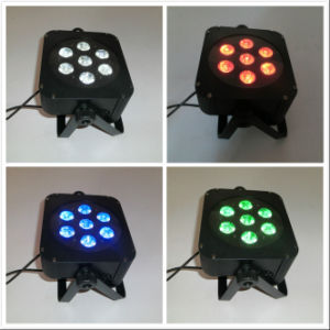 Professional 5in1 Rgbaw Wireless Flat LED Stage PAR Light pictures & photos