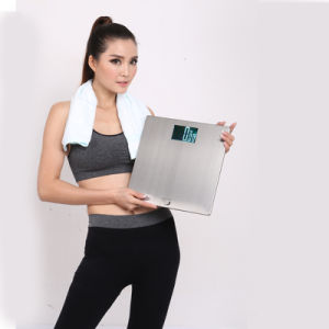 Stainless Steel Platform 200kg Backlit LCD Digital Personal Scale pictures & photos
