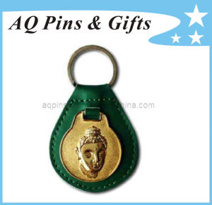 PU Leather Keychains with 3D Logo pictures & photos