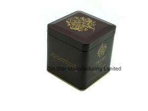 Old English Breakfast Square Tea Tin Box