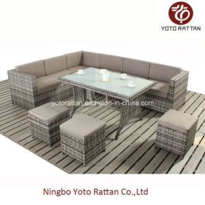 Steel Table Corner Sofa Set 903 Coffee pictures & photos