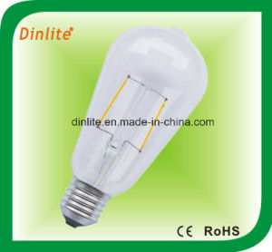 St-64 Clear White Frost LED Filament Bulb pictures & photos