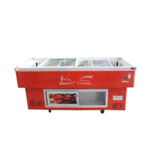 312L Refrigerated and Frozen Seafood Freezer for Supermarket pictures & photos