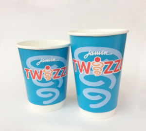 12oz Double PE Coated Cold Drink/Milkshake Paper Cup with Customized Logo Printing (YHC-016) FDA Certificated pictures & photos