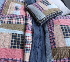 3 PCS Cotton Bedding Patchwork Quilt pictures & photos