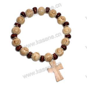 Fashion Cheap Religious Wooden Bracelet
