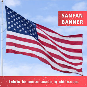 American Full Color OEM Printing Polyester Flag