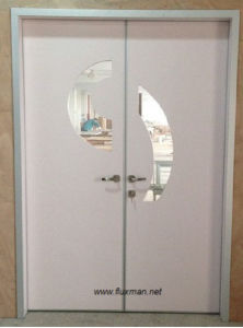 Hospital Interior Stainless Steel Aluminum HPL Manual Swing Door