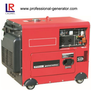 Air-Cooling 6.0kw Silent Portable Diesel Generator pictures & photos