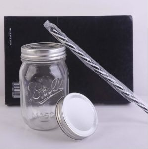 Classical Ball/Vintage Glass Mason Bottle (Supply Free Straw) pictures & photos