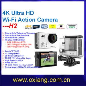 Ultra-Full HD4k Similar Gopro Hero 4 WiFi Waterproof 30m Digital G-Sensor WiFi Action Sport Camera (OX-H2) pictures & photos