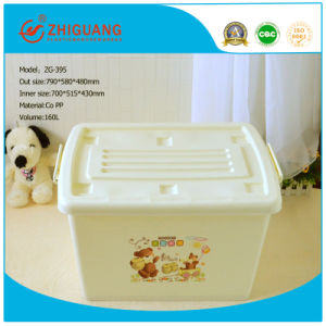 Ustomized High Quality Plastic Storage Box with Wheels (15L~160L) pictures & photos
