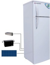 42L/166L Double Door Solar Refrigerator with Solar Panel Power pictures & photos