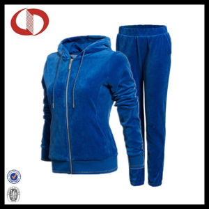 High Quality Womens Velour Tracksuit 2016 pictures & photos