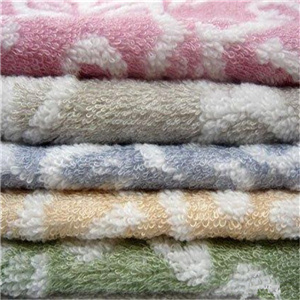 Bochang 100% Cotton Jacquard Full Size Bath Towel in Solid Color