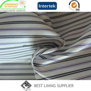 Polyester Three Colors Yarn Dyed Stripe Sleeve Lining Men′s Suit Lining pictures & photos
