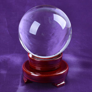 Home Decoration 100mm Clear Crystal Glass Ball pictures & photos
