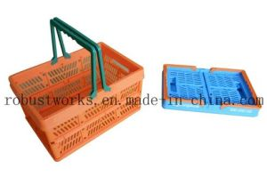 Small Size Folding Plastic Basket (FB001-1) pictures & photos