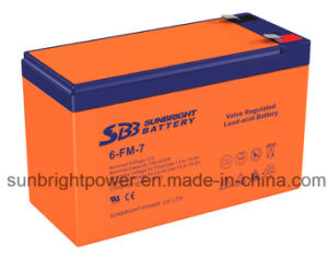 Deep Cycle Rechargeable 12V7ah Lead Acid Battery with CE UL Approval pictures & photos