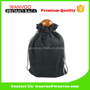 Black Eco Friendly Recyclable Suede Pouch Drawstring Bag for Gift pictures & photos